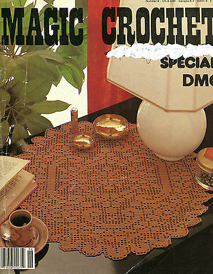 Vintage MAGIC CROCHET Special DMC Number 6 FRANCE Bedspreads Doilies Curtains