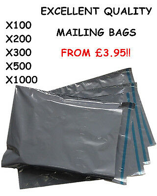 STRONG Post Mailing BAGS Plastic Packet Postage Grey Self Seal ALL SIZES