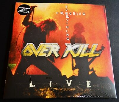 OVERKILL Wrecking Everything  2X RED VINYL  LTD 180g! Gatefold LP New & Sealed!