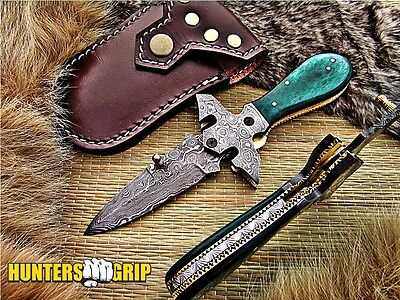 Huntersgrip Custom Damascus Steel Pocket Folding Knife/liner Lock/ Hg-K10409