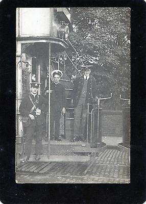 Manchester Tram at Didsbury Terminus, Real Photographic Postcard, RP