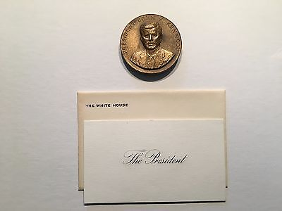 "1963  ""Appreciation""  Trip Medal / Challenge Coin - President John F. Kennedy"