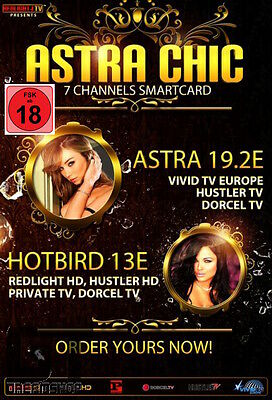 Redlight Elite Chic 7 Sender Viaccess Card 12 Monate Astra 19,2° & 13° FSK 18
