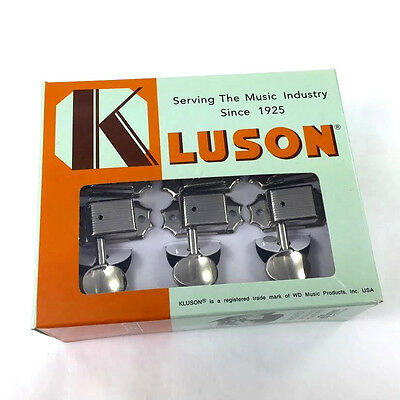 Kluson Nickel 3x3 Round Button Tuners for Vintage Gibson® Guitar SD9005MN