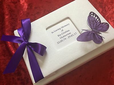Condolence Memorial Memory Book In Loving Memory Funeral Boxed Personalised