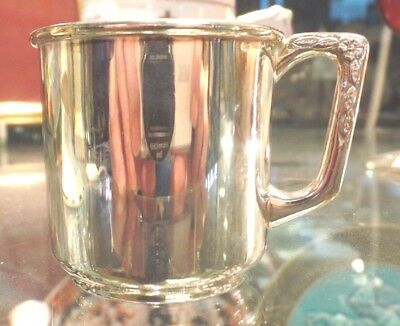 Solid Silver Christening Cup London 2004 Import Mark