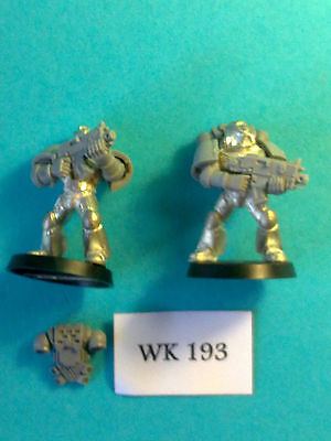 Warhammer 40K - Space Marines x2 - Metal WK193