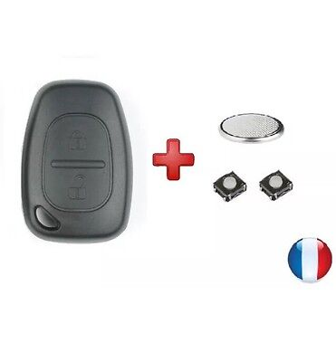 Coque+pile+swith Clé clef Telecommande Plip Renault trafic kangoo 2 Master