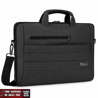 Laptop Bag 15.6 Inch Messenger Notebook Tablet Macbook Handbag Black