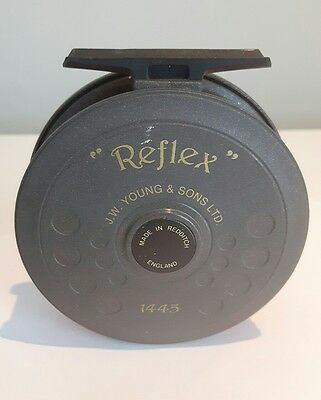 """J.W. Young and Sons Ltd. """"Reflex"""" 1445 fly fishing reel, 3.5"""" trout reel"""