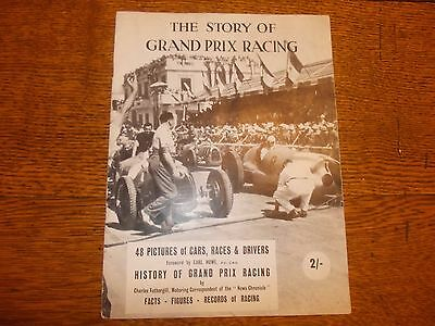 """""""The Story Of Grand Prix Racing"""" by C. Fothergill.  Post-war Booklet c.1948"""