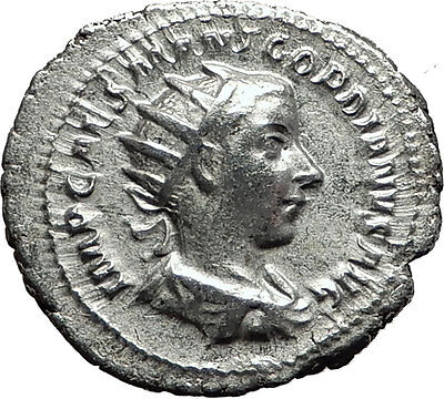 GORDIAN III 239AD Authentic Genuine Ancient Silver Roman Coin Equality i59071