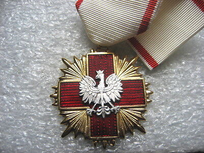 Poland Medal Red Cross PCK Merit Cross 1st class 1990s