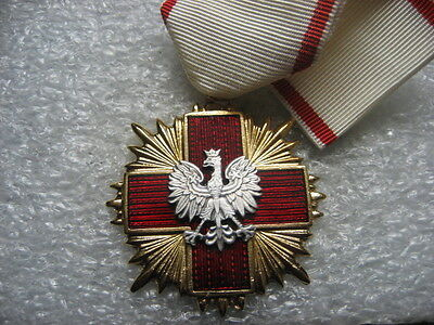 Poland Medal Red Cross PCK Merit Cross 1st cl.1990s.