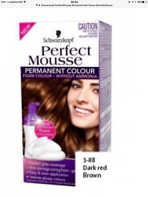 Schwarzkopf Perfect Mousse Permanent Hair Colour Dark Red Brown