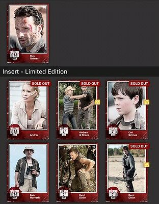 Topps Walking Dead Vintage II Wave 1 And 2 Full Set With Rick Grimes Award