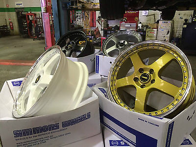 simmons 20inch wheels and tyres package after easter sale gold black white