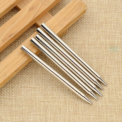 5 Pcs Paracord Leather Needle Shaft Tip Stitching Accessories Stainless Steel