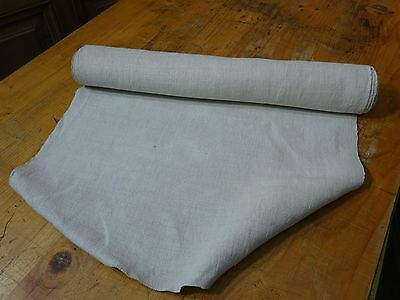 A Homespun Linen Hemp/Flax Yardage 4.5 Yards x 19'' Plain  # 8313
