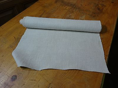 A Homespun Linen Hemp/Flax Yardage 3 Yards x 18'' Plain  # 8316