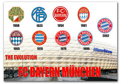 """The Evolution Bayern Fridge Magnet Collectible Size 3.5""""x 2.5"""""""