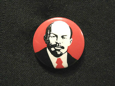 Lenin Vintage Button Badge Pin Uk Import  Marx Trotzky