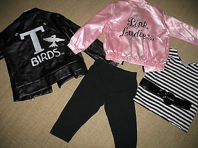 Chasing Fireflies costume GREASE boy T-bird jacket 8 girl Pink Ladies 6