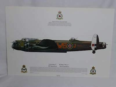 Lancaster I IX Squadron Print, RAF Bardney Squadron Aviation Art Print (19)