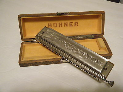 VTG Hohner 64 CHROMONICA 280 Key C 4 chromatic octaves pro model GERMANY W/BOX