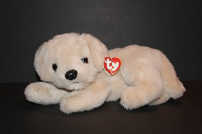 "Ty Classic Muffin Dog Plush 11"" Rare1995 Plush Stuffed Animal Golden Retriever"