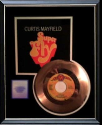 Curtis Mayfield Superfly Rare Gold Record Disc 45 Rpm Award Disc