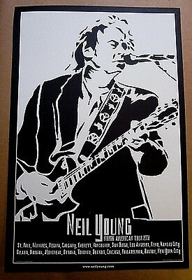 Neil Young 2008 Official North American Tour Concert Poster