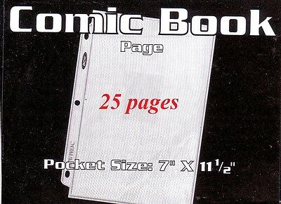 25  BCW PRO 1 POCKET COMIC COVERS, LARGE BANK NOTES PAGES  7 3/16 x 11 1/4 INCH
