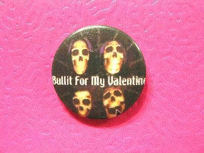 Bullet For My Valentine Vintage Button Badge Pin Uk Import