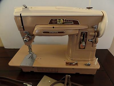 Vintage Singer 403A Slant-O-Matic Slant Needle All Metal Sewing Machine