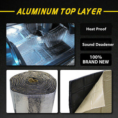 Firewall Sound Deadener Car Heat Shield Insulation Deadening Material Mat 6/10mm