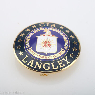 Brand New ! RARE CIA Central Intelligence Agency Metal Badge