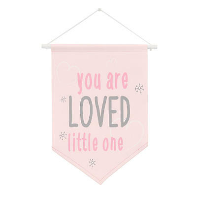 "NoJo The Dreamer Collection Pink/Grey ""You Are Loved Little One"" Wall Banner"