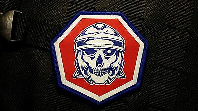 SKULL LEGION - RED/WHITE/BLUE Morale Woven Patch by Skull Armory