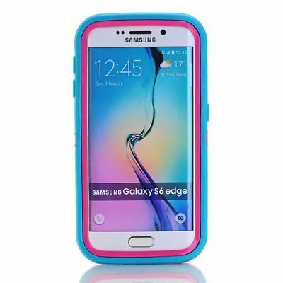 Bocov Blue/Hot Pink Shockproof Cover & Holster Case For Samsung Galaxy S7