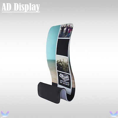 Advertising Banner Promotional Display Stand With Double Side Banner Printing