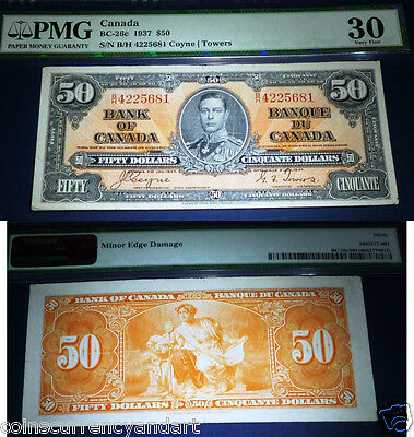 1937 $50  Bank of Canada - PMG 30