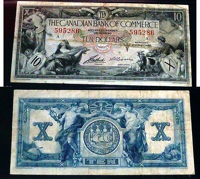 Canadian bank Of commerce - 1935  $10- Certified
