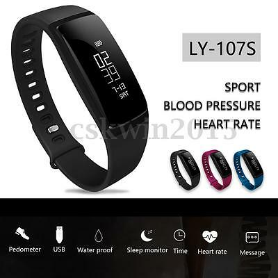 LY 107S Smart Watch Wristband Bracelet Blood Pressure Oxygen Heart Rate Fitness