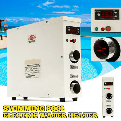 5.5KW 220V Swimming Pool & SPA Bath Thermostat Hot Tub Electric Water Heater