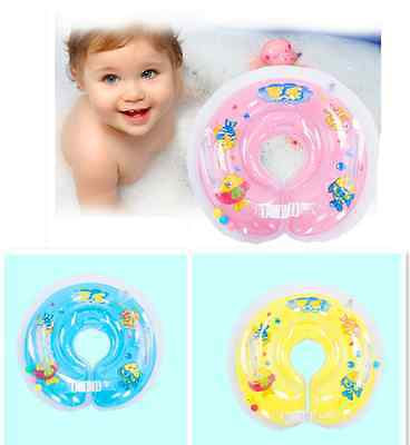 Baby Swimming Neck Float Inflatable Ring Adjustable Safety Aids 1-18 Months UK