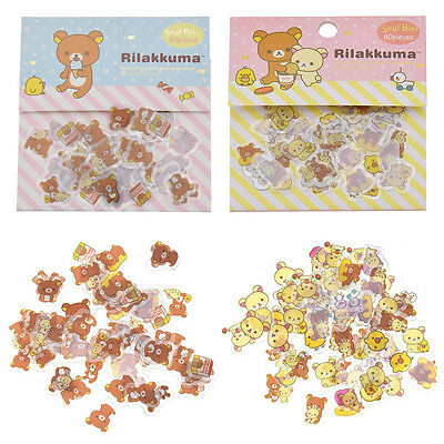 Aufkleber Rilakkuma Anime Bär Sticker SAN-X Cartoon Manga Fanartikel Scrapbook