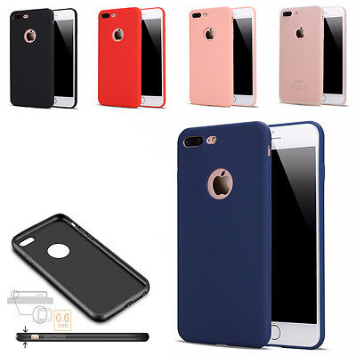 Color candy Ultra thin shockproof Silicone TPU Cover Case for iPhone 5 6 7 8Plus