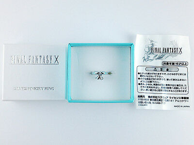 Final Fantasy X Silver 925 Yuna's Pinky Ring official Square Enix Size 4