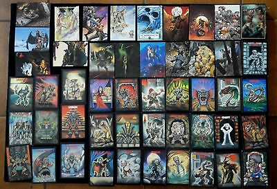 Mixed Group (138) Collector Cards,Fantasy,Monster,Comics,SuperHeroes - See Desc